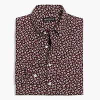 J Crew Mens Tall Printed Washed Shirt Floral Burgandy Sizes:MT LT MSRP:54.50