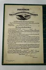 President Franklin D. Roosevelt 1933 Army Medical Corp Appointment Document