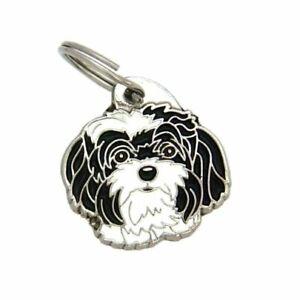 Dog name ID Tag,  Bolonka zwetna, Personalised, Engraved, Handmade