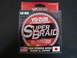 YO-ZURI SUPERBRAID Dark Green Fishing Line 80lb 300yd R1271-DG Super Braid