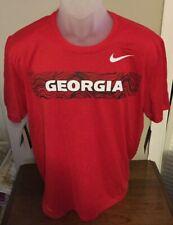 Georgia Bulldogs Nike University Red Dri-Fit T Shirt Size Large NWT