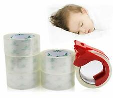 No Noise Quiet Clear Packing Tape Heavy Duty Packaging 6rolls 188inch55yds