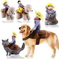 Gift For Pet Dog Cat Cowboy Rider Puppy Fancy Clothes Cosplay Costume Large Size