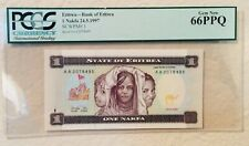New ListingPcgs World Certified Paper Money 1997 Eritrea Bank of Eritrea 1 Nakfa Gem New 66