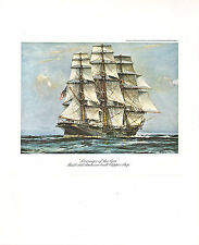 VINTAGE SAILING PRINT ~ SOVEREIGN OF THE SEAS (1854) AMERICAN BUILT CLIPPER SHIP