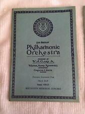Antique Vintage-Los Angeles Philharmonic Orchestra 3 Programs 1926-1927 Season