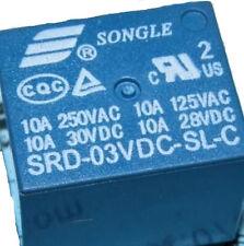 5PCS New Original SRD-03VDC-SL-C SRD-3VDC-SL-C 3V SONGLE Power Relays 5-Pin