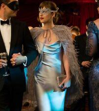 Fifty Shades of Grey Anastasia Silver Satin Silk Dress Gown Darker Freed Pattern