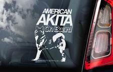 American Akita on Board - Car Window Sticker - Inu Ken Sign Decal Gift Idea -V02