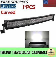 "4D+ 32""INCH 180W Curved LED Light Bar Spot Flood Offroad 4WD Truck ATV 30"" 36''"