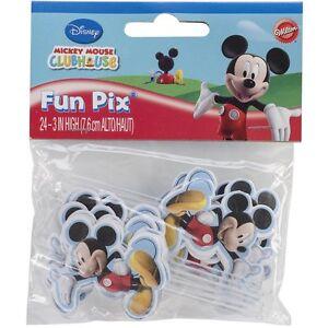 Mickey Mouse Clubhouse Cupcake/Cake FunPix Set of 24/Wilton