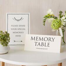 """""""condividere i tuoi ricordi'S & 'memoria tabella"""" insieme di 2 segno-per il funerale, libro di condoglianze"""