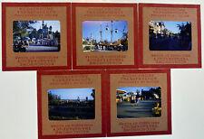 5 x Vintage 1950s Kodak Red Border 35mm Photo Slides, Disneyland Florida America