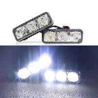 2PCS LED Daytime Running Light DRL turn signal Car Fog Driving Lamp Universal