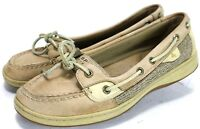 Sperry Top-Sider Angelfish $85 Women's 2-Eye Boat Shoes Size 8 Leather Beige