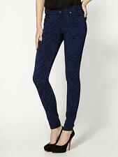 24  7 FOR ALL MANKIND Skinny Jeans  Jacquard Royal Blue Black $225