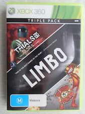 Xbox 360 - Triple Pack - Trials HD, Limbo & Splosion Man - Very Good Condition