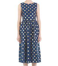 Stunning GORMAN Foil dot navy cotton dress -  size 8