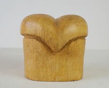 Vtg Wooden Hat Mold Balsa Wood Millinery Form Block Store Display Unusual Shape