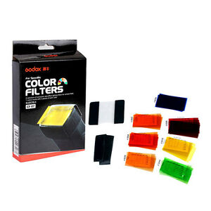 godox 7 Colors 35pcs Universal Gel Filter and  Holder for Speedlite Flashgun