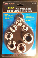 """7pc A/C Spring Lock & Fuel Line Disconnect Tool Set 1/4"""",5/16"""",3/8"""",1/2""""-7/8"""""""