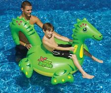 NEW Swimline Baby Dino Dyno Ride On 90261 Pool Inflatable Dinosaur Ride-On Toys