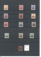 Deutsche Besetzung WK I, 1914/1918, verschiedene Einzelmarken **, postfrisch **