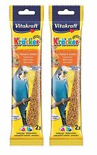 VITAKRAFT KRACKER BUDGIE SEED STICKS BIRD TREATS HANGING CAGE SNACK 2 OR 7 PACK