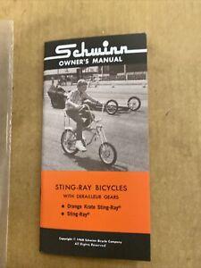 1968 Schwinn Stingray Krate Owners Manual