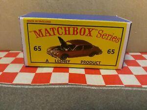 Matchbox Lesney Jaguar 3.8 Sedan   No65 EMPTY Repro Box Only   NO CAR