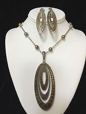 JOHN HARDY Sterling Silver & 18k Gold Dot Pendant, Necklace & Matching Earrings
