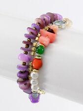 Bracelet Stone Beads Stretch Multi Color New Women Fashion Jewelry