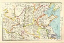 1952 mapa ~ China Del Norte ~ Honan Shantung Shanghai Kansu Shansi