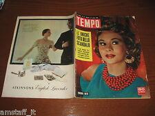RIVISTA TEMPO 1956/28=VIRGINIA MAYO=DELIA SCALA=MARIO D'AGATA=ROBERT COHEN=