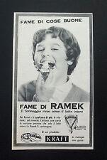 F426 - Advertising Pubblicità - 1960 - RAMEK IL FORMAGGINO RICCO DI LATTE INTERO
