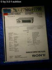 Sony Service Manual CDX F7500 / F7700 (#5010)