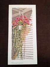 Linda Baker Michigan Welcoming Committee Mini Print Floral Geraniums Ivy Porch