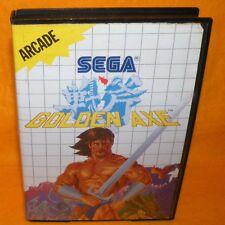VINTAGE 1989 SEGA MASTER SYSTEM GOLDEN AXE ARCADE CARTRIDGE VIDEO GAME