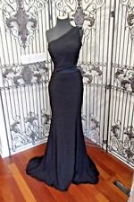 SR659 JOVANI SZ 6 BLACK $575 PARTY BRIDESMAID PROM FORMAL GOWN DRESS