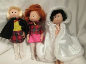 """EDEN MADELINE , NICOLE & PEPITO  8"""" DOLL LOT WITH CLOTHES"""