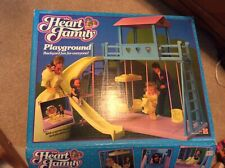 Mattel 1985 Heart Family Playground Set With Family