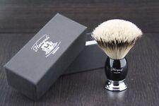 Deluxe su Brocha de Afeitar 100% Punta De Plata Pelo de Tejón Navaja Afeitar Barbero para hombres F2