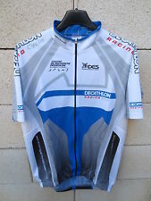 Maillot cycliste DECATHLON RACING CYCLE DES bleu gris blanc XL
