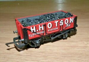 HORNBY R087 H. HOTSON 4 PLANK WAGON WITH COAL LOAD 00 GAUGE VGC