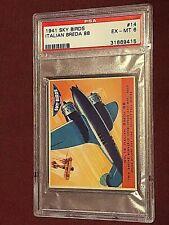 1941 SKY BIRDS ITALIAN BREDA 88 #14 PSA EX-MT 6