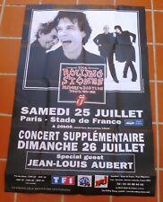 Affiche Originale 150x100 cm The Rolling Stones Paris 1998 Babylon Tour Poster
