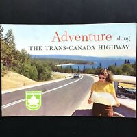 1964 ADVENTURE ALONG THE TRANS-CANADA HIGHWAY vintage tourism booklet CANADIAN