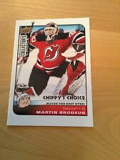 08-09 2008-09 COLLECTOR'S CHOICE MARTIN BRODEUR CHIPPY'S CHOICE 293 DEVILS