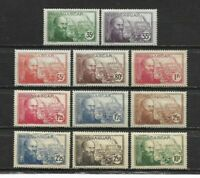 French MADAGASCAR 1938< Complete set 11 new stamps *.  Jean LABORDE   (7216)