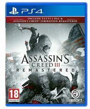 ASSASSIN'S CREED 3 REMASTERED HD PS4 + ASSASSINS CREED LIBERATION ITALIANO NUOVO